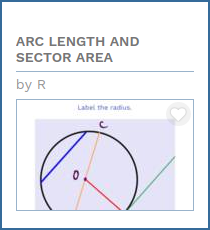 Arc length sector area quiz