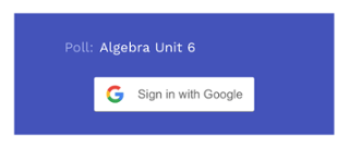 Student login prompt for Google Classroom