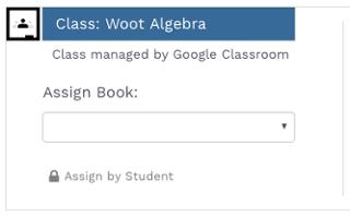 Gooogle Classroom icon inside of Woot Math