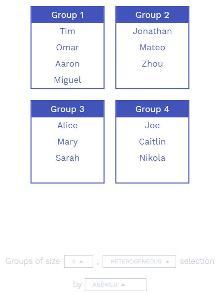 Automatic Student Grouping