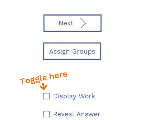 Toggle Off Display Work