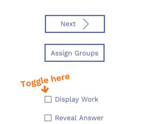 Toggle Off Display Work