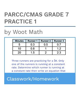 PARCC/CMAS Grade 7 Practice 1