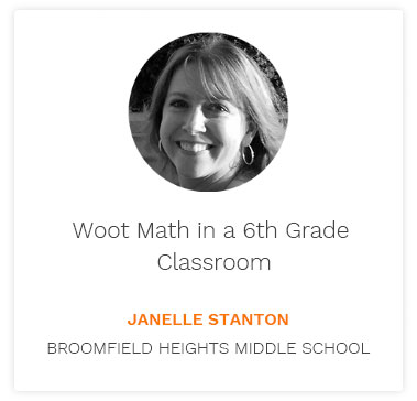 Woot Math in a 6th Grade Class Blog Post