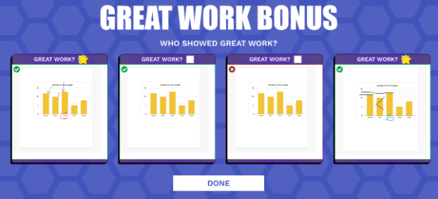 Great Work Bonus Screen