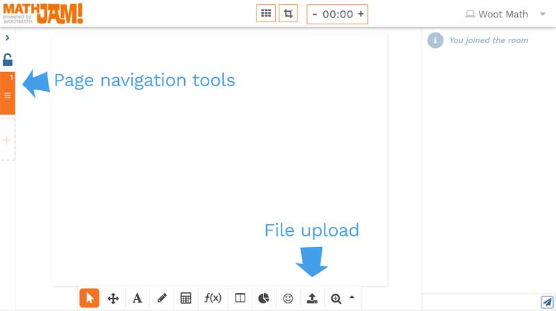 Page navigation and file upload tools