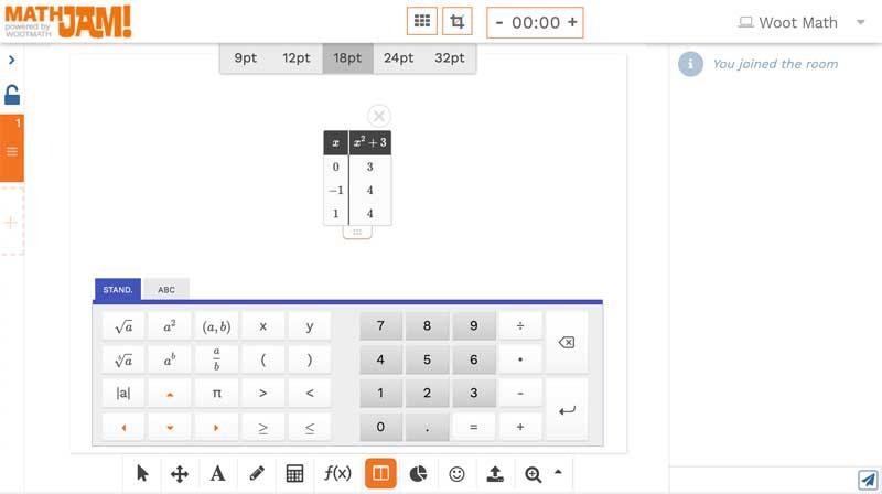 Math table