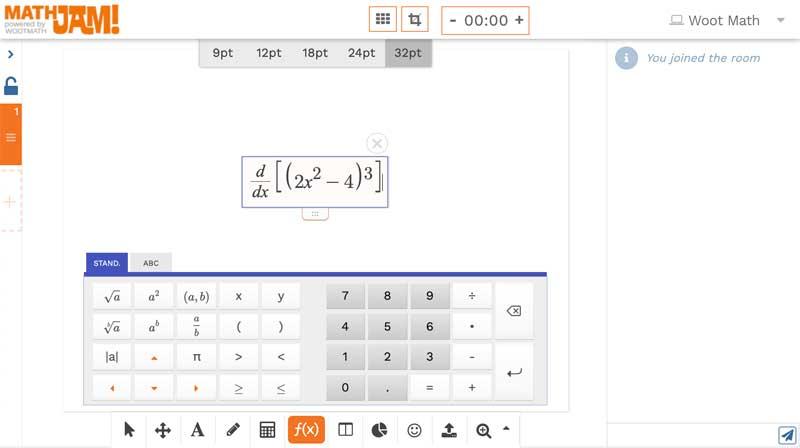 Math expression editor